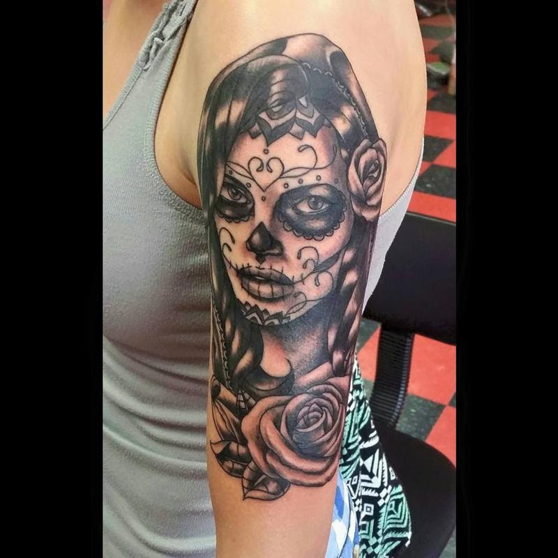 Day Of The Dead Woman By Jesse Neumann Tattoos