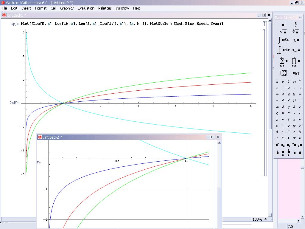로그 함수 그래프