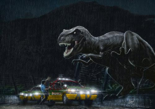 Jurassic Park Tyrannosaurus outbreak by ~Galen-Marek