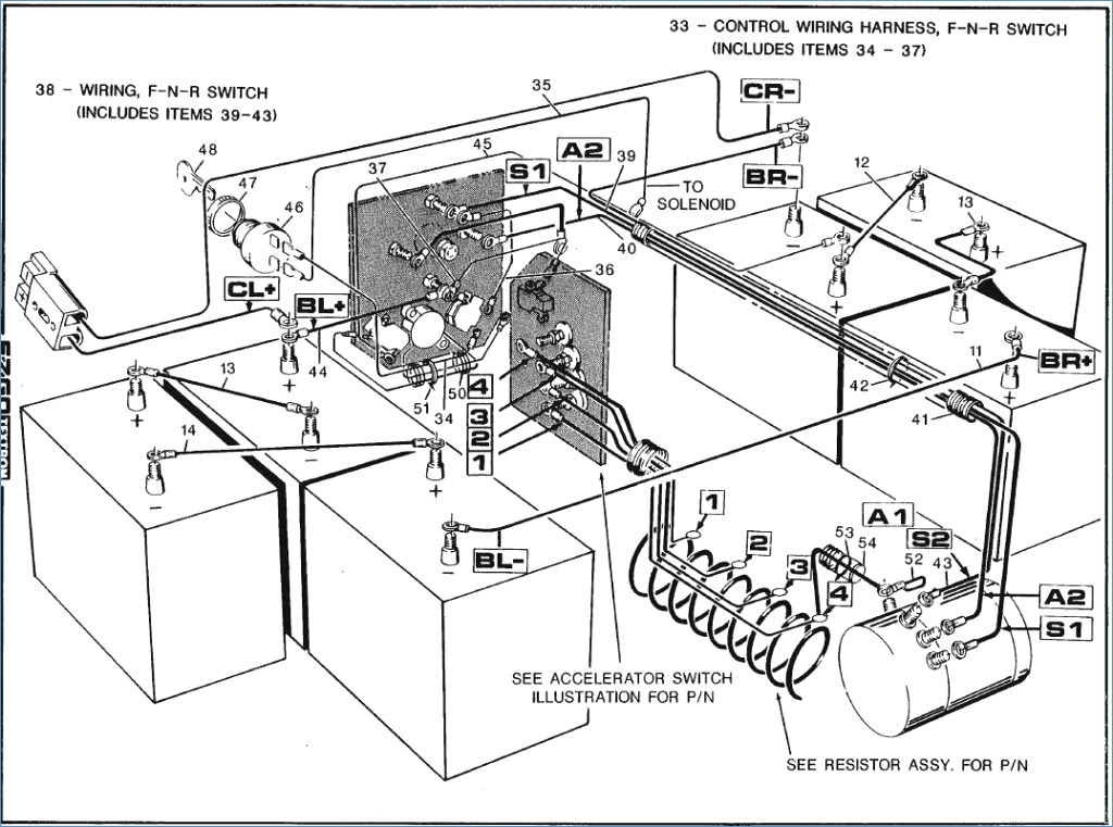 1998 Ezgo Gas Wiring Diagram Power - Auto Electrical ...