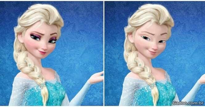 Assim as princesas da Disney ficariam se não usassem maquiagem