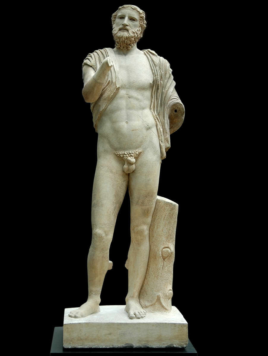 Anacreon. Marble. Roman copy of the 2nd century CE after a Greek original of the 5th century BCE. Inv. No. 491. Copenhagen, New Carlsberg Glyptotek
