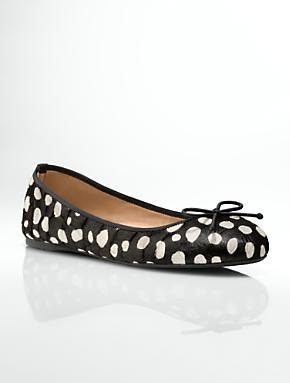 Talbots - Jilly Animal Dots Haircalf Ballet Flats | Flats |