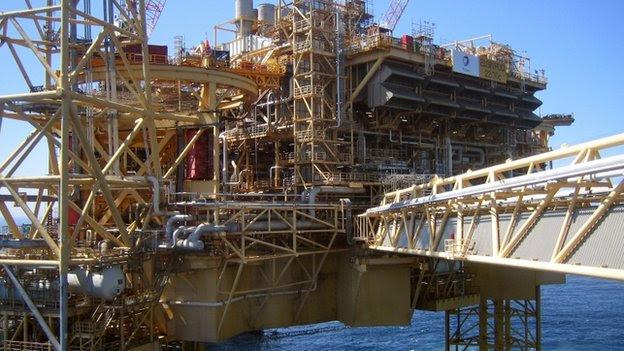 Norte rig do total de óleo do mar