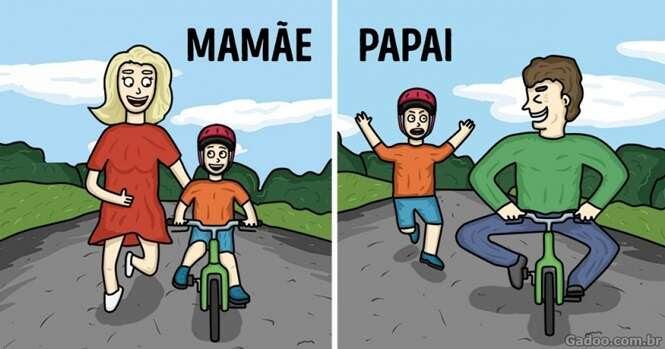 Comics ilustrando como é fantástico ser pai