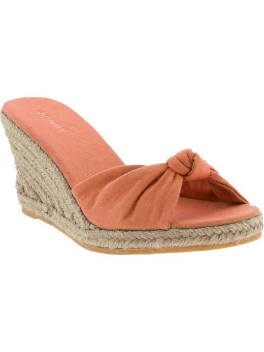 Old Navy Womens Knotted Canvas Espadrilles
