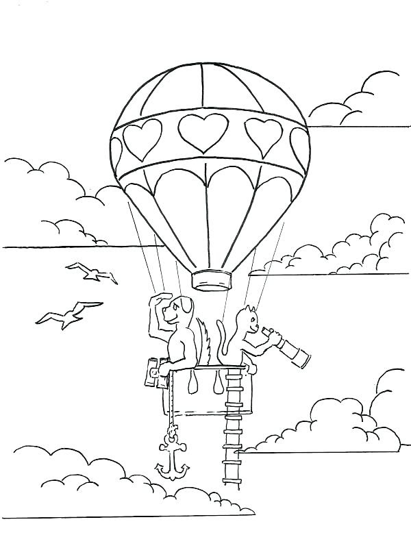 31 Coloring Pages Hot Air Balloon - Free Printable Coloring Pages