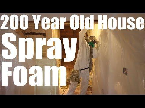 Spray Foam - 200 Year Old House | Farm House Restoration |