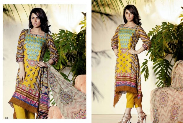 Firdous-Chiffon-Summer-Lawn-Collection-2013-Long-Shirt-with-Short-Tight-Trouser-1