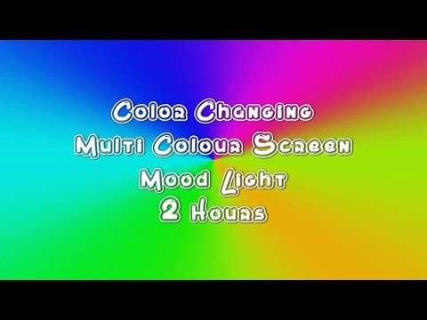 Color Changing Multi Colour Screen 2 Hours | Mood Light | Animated Motion Background | Video Loop