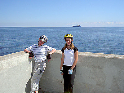 Henry and Geneva by lighthouse in Duluth