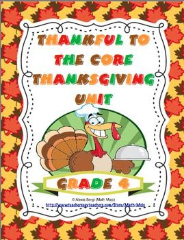 Thankful to the Core - 4th Grade Thanksgiving Unit