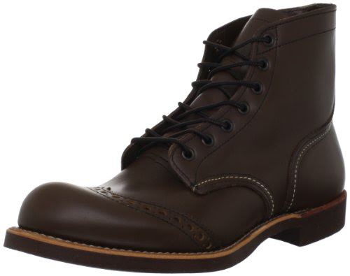 Red Wing Heritage 6-Inch Brogue Ranger Boot,Antique Brown Chaparral,8.5 D US