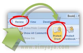 Gambar: Cara protect sheet di microsoft excel