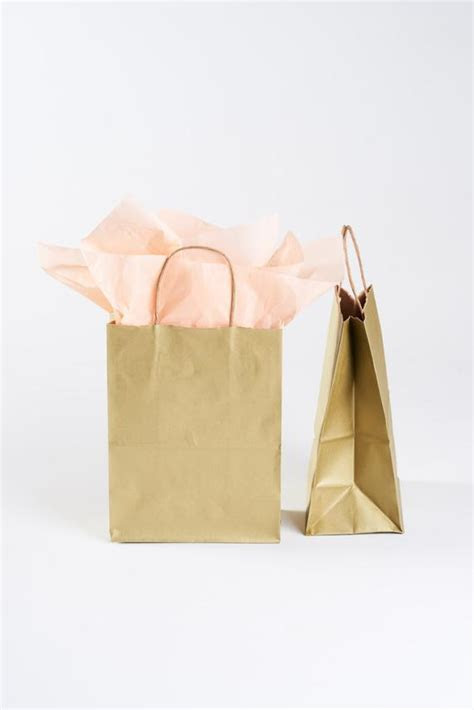 50 Gold Gift Bags with Handles for Wedding Guests, Welcome