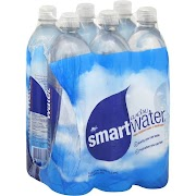 Glaceau Smart Water - 6 pack, 1 L plastic bottles