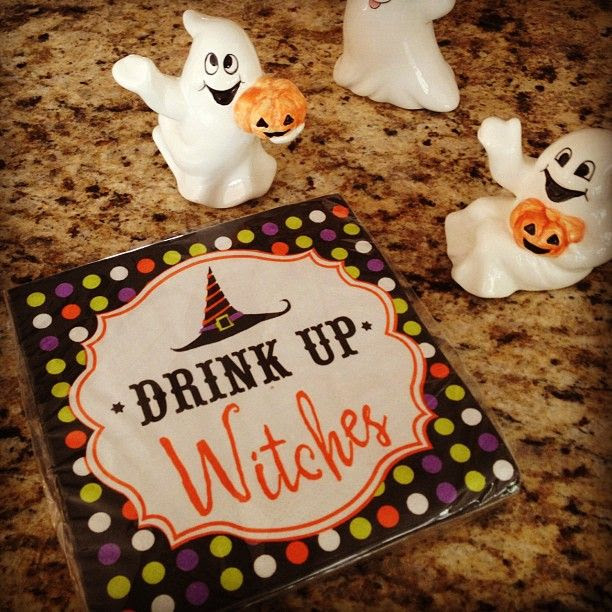 Cute napkins from Pier One for Halloween Bunco night!