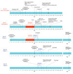 Thumbnail of Timeline of pertinent exposures, dates of illness onset, and virologic findings for 2 patients (index case-patient and case-patient 2) who were co-infected with avian influenza A(H7N9) and A(H1N1)pdm09, and 3 non–H7N9-infected patients who shared the same hematology ward, Taizhou Hospital (hospital A), Zhejiang Province, China, January 10–15, 2014. Orange box indicates the period when patients 2–5 were exposed to the index case-patient. Blue line indicates that the period when the 3