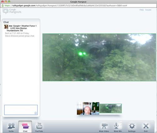 Google+ Weather Report Video Hangout by stevegarfield