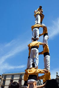 Human Castellers towers