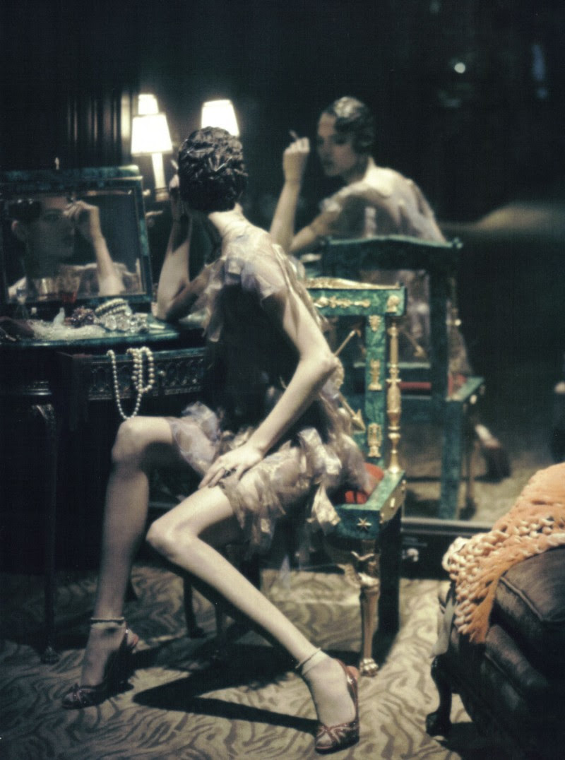 Mathias Lauridsen & Freja Beha Erichsen by Steven Meisel in Vogue Italia, March 2010