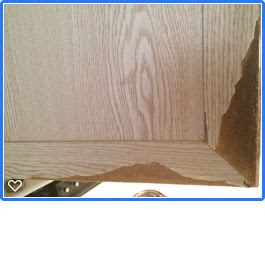 My cabinets are pressed wood, swollen from water, how do I ...
