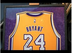 Framing a Signed Kobe Bryant Lakers Jersey   YouTube