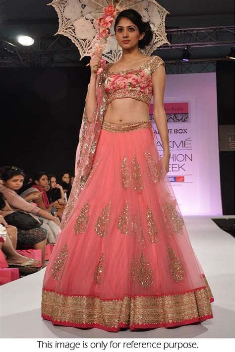 Bollywood Style Model Net Lehenga In Pink Colour NC1510