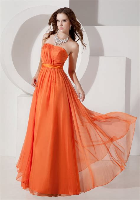 sun orange chiffon designer bridesmaid dresses  summer