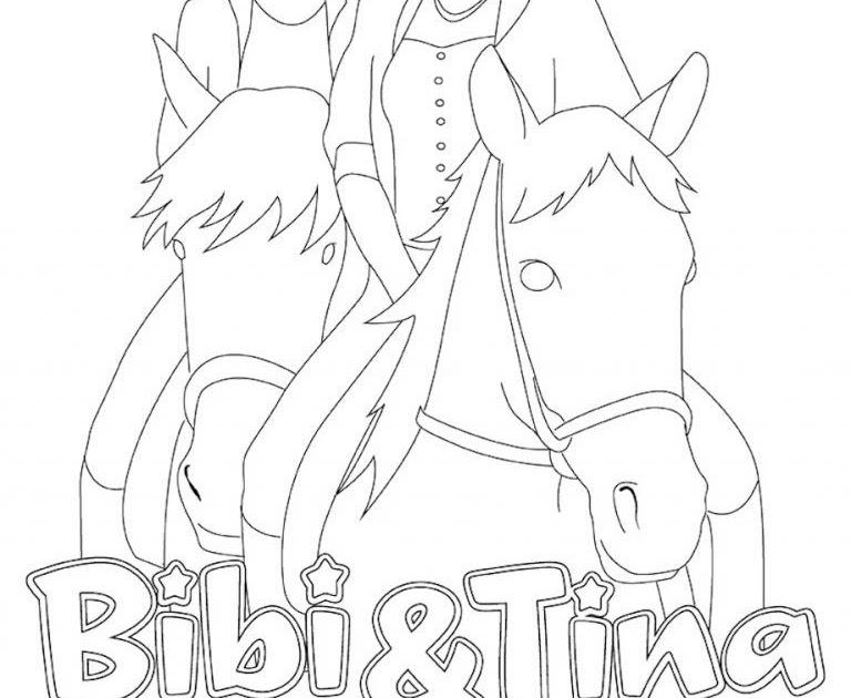 ausmalbilder bibi und tina film  malvorlagen
