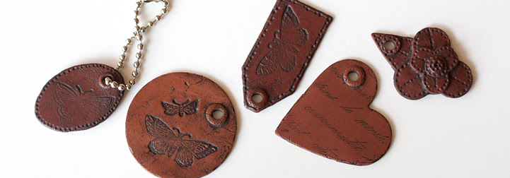 Polymer Clay Faux Leather Tags Tutorial