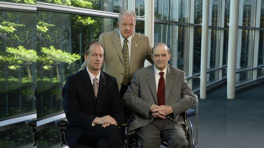 L/R, F/B: Thomas Drake, William Binney and J. Kirk Wiebe
