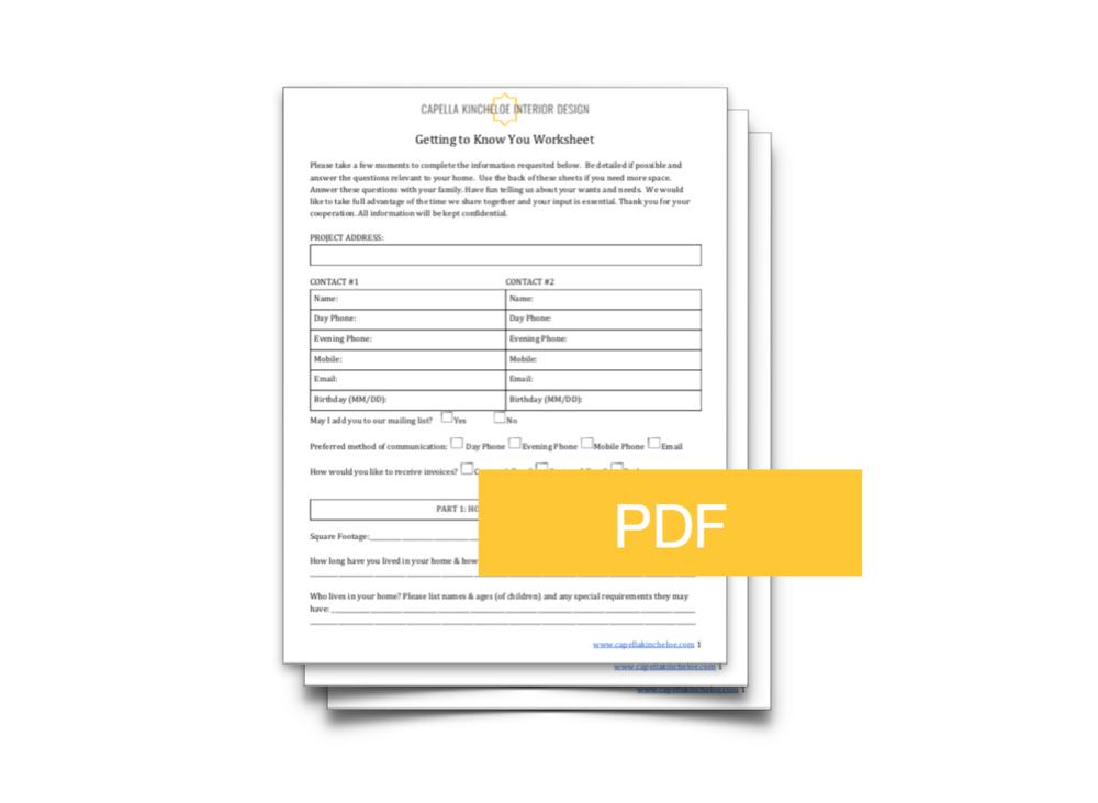 beautiful interior design client questionnaire templates