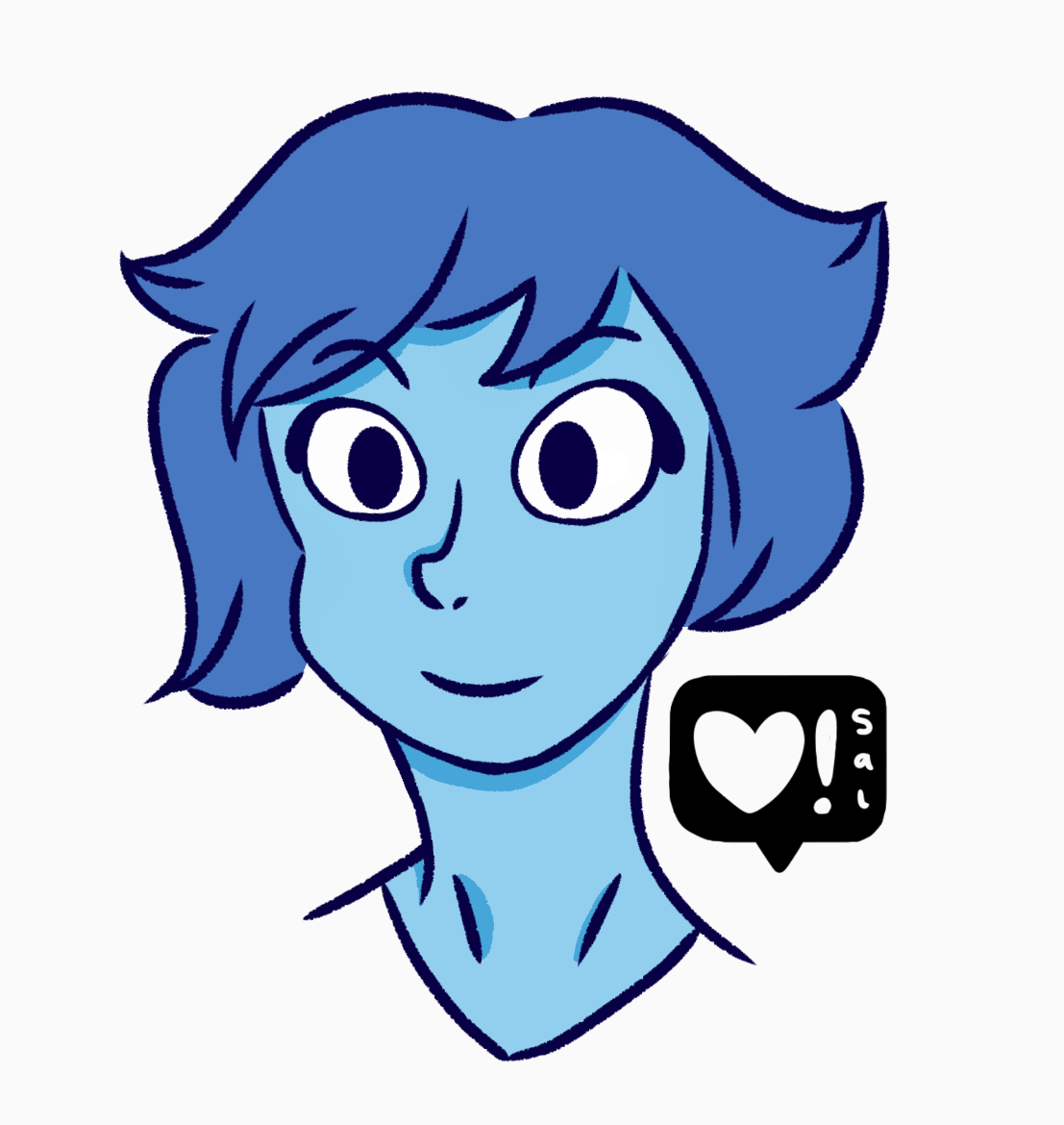 Here's a quick smiling Lapis Lazuli doodle per @integer-journalist 's request