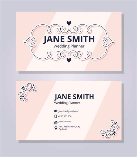 Wedding Planner Business Card Template   Download Free