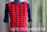 how to make a quilted sweater