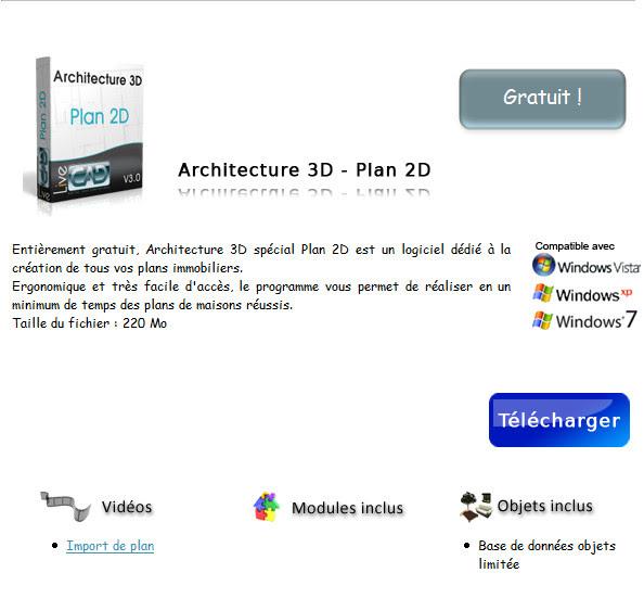 Fluxmark architecture 3d sp cial plan 2d 2010 pro gratuit for Logiciel d architecture professionnel