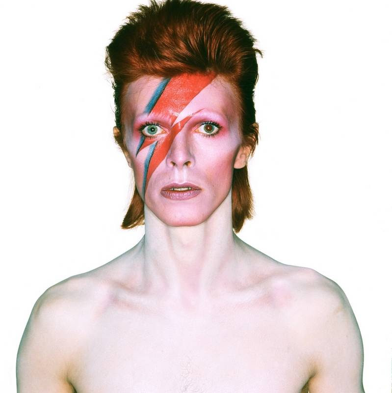 """Among the photos displayed in the """"David Bowie Is"""" exhibit at Museum of Contemporary Art is the album cover shot for 1973's """"Aladdin Sane."""""""
