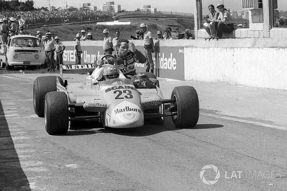 GP do Brasil de 1980: o italiano Bruno Giacomelli e o francês Patrick Depailler