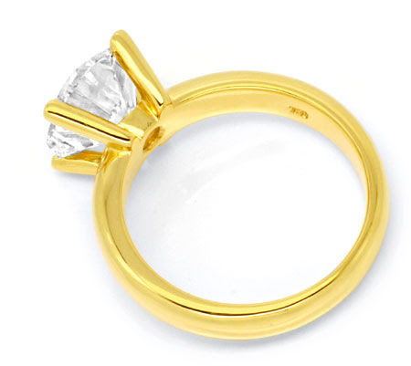 Originalfoto DIAMANTRING 3,365ct BRILLANT-SOLITÄR 18K-GG SCHMUCK NEU