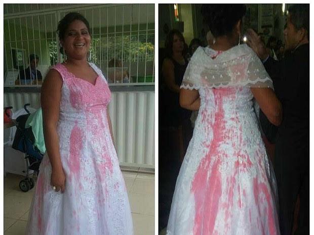 Noiva manchada Pirapetinga MG (Foto: Adiliane Mattos/Arquivo pessoal)
