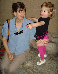 marin and grandma at the museum