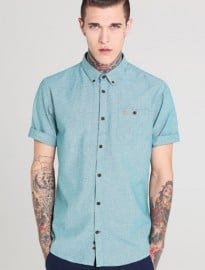 Farah Vintage Short-sleeve Chambray Shirt
