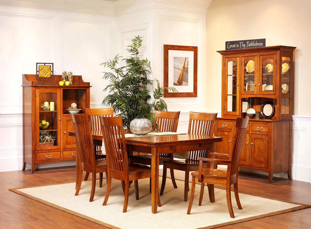 English Shaker Dining Room - Amish Furniture Designed