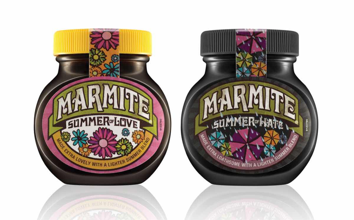 Marmite unveils lighter spread in summer of love jars