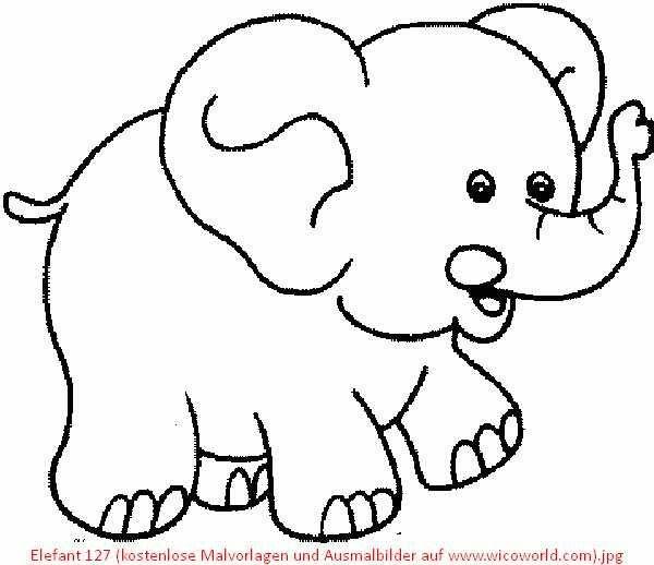 30 malvorlage elefant einfach  besten bilder von ausmalbilder