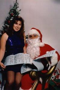 K. S. Brooks with Santa