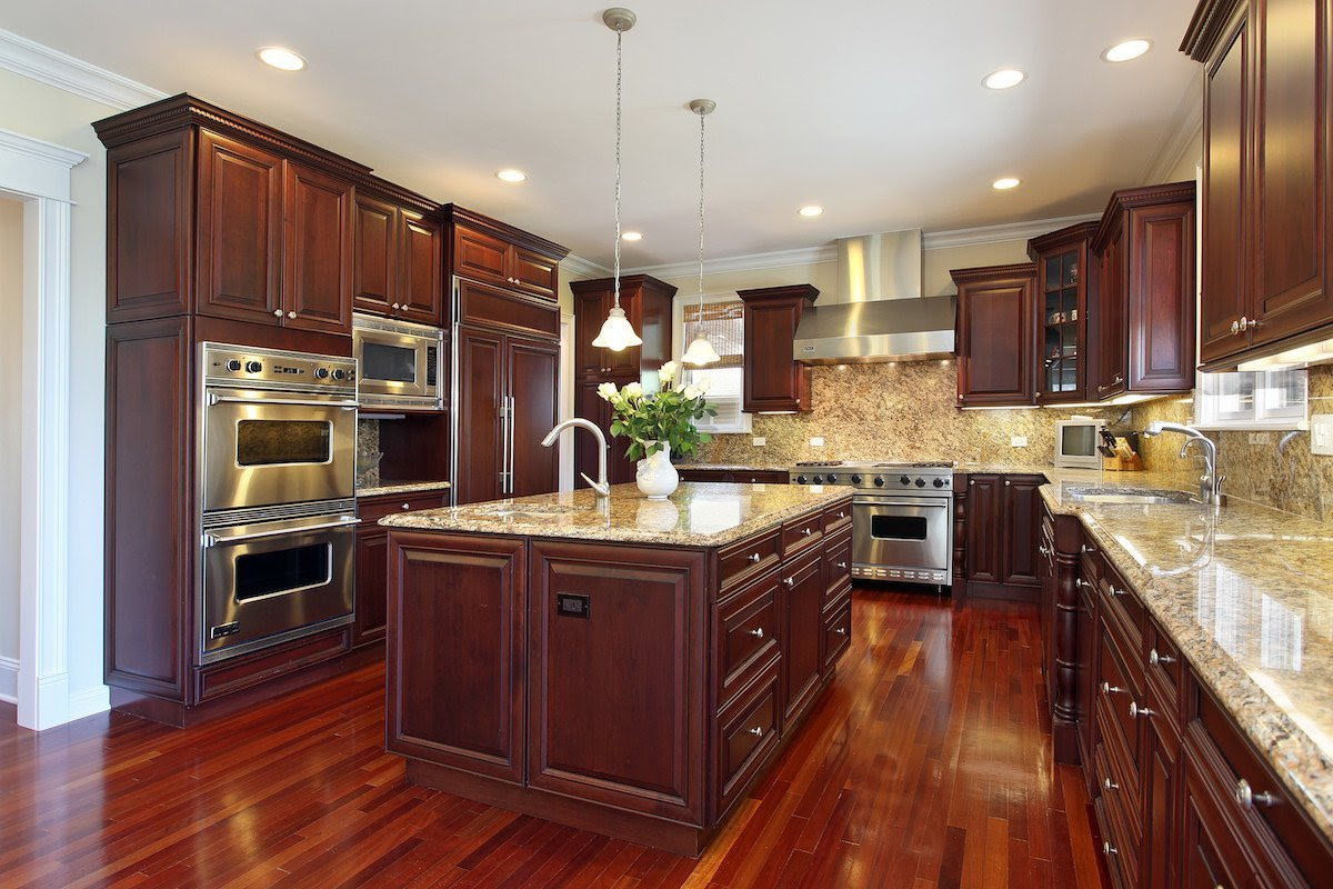 Kitchen Colors with Brown Cabinets - Home Furniture Design