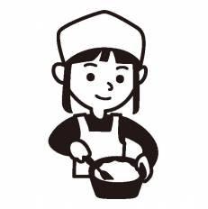 料理教室シルエット イラストの無料ダウンロードサイトシルエットac
