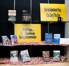 Close up of the NAACP Library Display